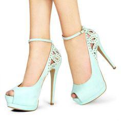 1000+ ideas about Blue High Heels on Pinterest | Black Stilettos ...