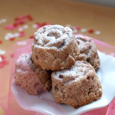 Raspberry White Chocolate Chip cakes, a delicious, vegan dessert that is as tasty as it is healthy for you.