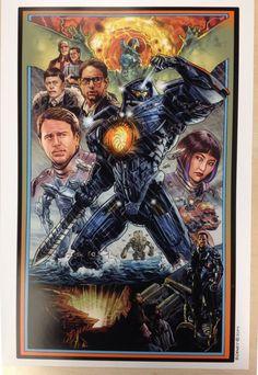 Pacific Rim poster by Benjamin Dewey! Available via Etsy!