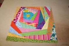 How to sew an easy Crazy Quilt block by DebRupp