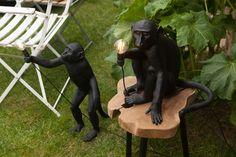 Lampes à poser Monkey pour l'intérieur et l'extérieur de la marque Seletti ! #monkey #seletti #design #jungle #luminaire #extérieur