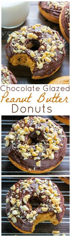 Each bite of these chocolate glazed peanut butter donuts is pure nirvana. Ready in just 20 minutes!!!