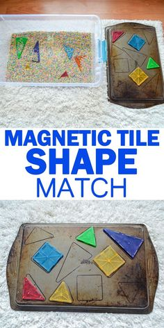 MagnaTiles Shape Match HAPPY TODDLER PLAYTIME Here is a fun and easy early math activity for toddlers and preschoolers Shape matching using MagnaTiles Toddlers And Preschoolers, Math Activities For Toddlers, Shapes For Toddlers, Preschool Lessons, Preschool Activities, Preschool Shapes, Parenting Toddlers, Emergent Curriculum, Learning Shapes
