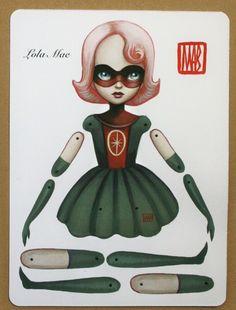 articulated paper dolls | Cassandra Melena - dannybrito: Lola Mae articulated paper doll kit...