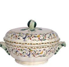 Gien Toscana Covered Vegetable Bowl