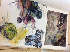 Unit 1 textiles observational drawing CNC student