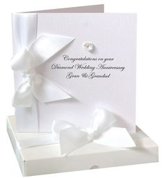 Bedazzled Diamond Wedding Anniversary Card