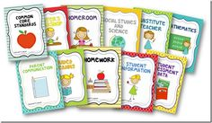 Free Binder Covers (Editable Versions Available, too!) tpt-free-lessons