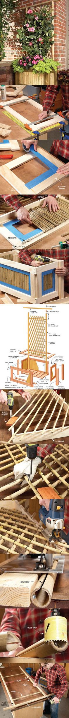 Building With Bamboo: Planter And Trellis