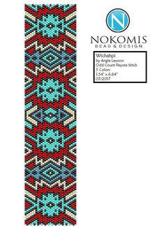 Wichahpi - Peyote Stitch Pattern Download - Odd Count by NokomisBeadPatterns on Etsy native southwest geometric