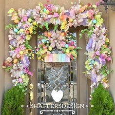 shop: Easter Garland and Wreath Set, Spring Door Decor, Easter Front Door Swag and Wreath Excited to share this item from my Halloween Front Doors, Christmas Front Doors, Christmas Door Decorations, Outdoor Easter Decorations, Spring Decorations, Front Door Decor, Wreaths For Front Door, Door Wreaths, Easter Garland