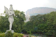 The massive statue of Garuda at Alipiri,  the starting point for the journey to Tirumala.