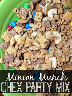 Minion Munch Chex Mix Recipes