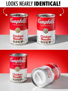 Can Safes: Decoy containers cleverly disguised as popular canned goods. Can Safe, Retail Signs, Chicken Noodle Soup, Coffee Cans, Helpful Hints, Container, Handy Man, Canning, Cool Stuff