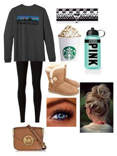 """Do nothing day"" by brittanyr1204 ❤ liked on Polyvore featuring Rick Owens Lilies, Patagonia, UGG Australia, NIKE, Victoria's Secret PINK and Michael Kors"