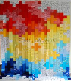 primary plus quilt in progress by Pretty Bobbins, via Flickr