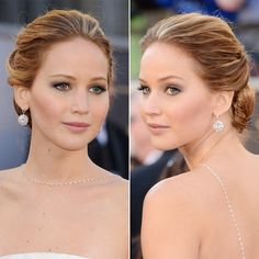 Jennifer Lawrence Oscar updo - easy step by step tutorial