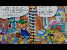 Cei Trei Purcelusi - POVESTI AUDIO - - YouTube Audio, Smurfs, Youtube, Fictional Characters, Fantasy Characters