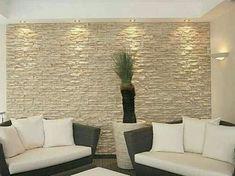 Interior Walls, Diy Interior Stone Wall, Interior Design, Stone Wall Living  Room,