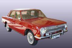Volga GAZ-24 Paper Car Ver.2 Free Vehicle Paper Model Download