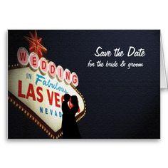 "Save the Date ""Wedding"" In Las Vegas Card"