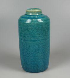 Pieter Groeneveldt blue craqueled vase...