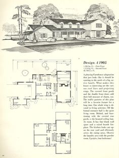 Vintage House Plans, Farmhouses  DESIGN A 1905