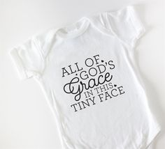 Our Inspirational Baby Bodysuits make the perfect gift for friends and family or just an extra special treat for your new baby. Perfect gifts for Baby showers!