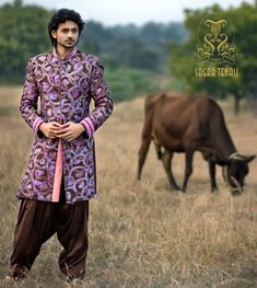 An artsy Sherwani that will make you look like a Bollywood Star. credits-Sagar tenali