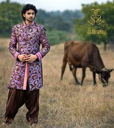 An artsy Sherwani that will make you look like a Bollywood Star. credits-Sagar tenali