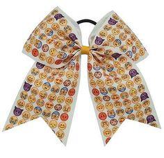 """7"""" Emoji Cheerleader Bow Hairband"""