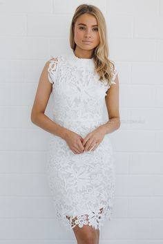 renelle lace dress - ivory Rehearsal dinner dress?