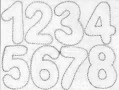 moldes de numeros                                                                                                                                                                                 Mais