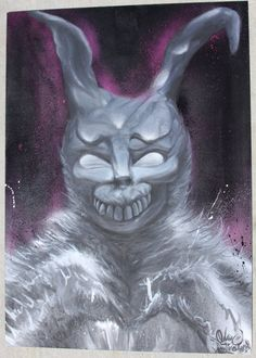 Items similar to Donnie Darko Frank Character Original Acrylic & Aerosol Painting on MDF board on Etsy Photo, Donnie Darko, Acrylic Painting, Art For Sale, Art, Character, My Arts, Evil, Vintage