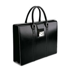 Pineider Optical Women's Leather Briefcase - Two Gusset