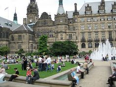 Sheffield, South Yorkshire: There are more than 200 parks, woodlands and gardens in the city, and an estimated million trees, giving Sheffield the highest ratio of trees to people of any city in Europe. Yorkshire England, South Yorkshire, Sheffield Town Hall, Sheffield England, Cities In Europe, England And Scotland, Derbyshire, Oh The Places You'll Go, Great Britain
