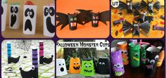 Complete collection of children's craft for HALLOWEEN + tutorial videos + templates - Halloween Suggestions Halloween 2018, Halloween Gif, Halloween Tutorial, Monster Cup, Manualidades Halloween, All Kids, Car Painting, Food Coloring, Little Ones