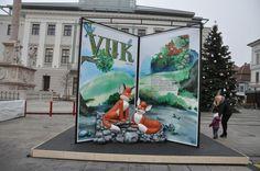 Vuk, (Hungarian fairy tale), My Giant Fairy Tale Book in Hungary, GYőr Hungary, Photo Booth, Fairies, Fairy Tales, Books, Painting, Art, Faeries, Art Background