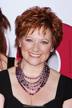 Short Red Hairstyle for Women Over 50