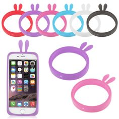 Universal Silicon Bumper for BQ E5 Doogee X5/MicroMax AQ5001Universal Phone 4.0 ~ 5.5 inch Rabbit Bear Ears Wristband Case P10 // iPhone Covers Online //   Price: $ 7.87 & FREE Shipping  //   http://iphonecoversonline.com //   Whatsapp +918826444100    #iphonecoversonline #iphone6 #iphone5 #iphone4 #iphonecases #apple #iphonecase #iphonecovers #gadget #gadgets