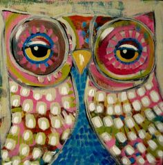 TWO OWL PAINTINGS! - SUZAN BUCKNER