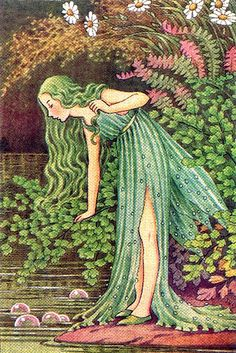 art, illustration, // Maidenhair Fairy by Ida Rentoul Outhwaite. Art And Illustration, Fairy Dust, Fairy Land, Fairy Tales, Fantasy Kunst, Fantasy Art, Art Magique, Kobold, Vintage Fairies