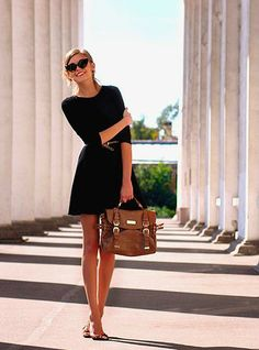 I intend on wearing black cotton dresses with brown leather sandals allllll summer long