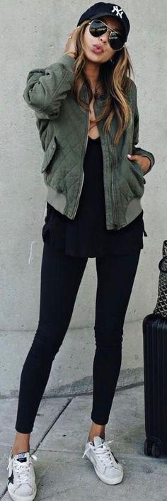 "JULIE SARIÑANA (@sincerelyjules) on Instagram: ""NYC, I'm here!  / Girl bomber jacket @shop_sincerelyjules shopsincerelyjules.com"""