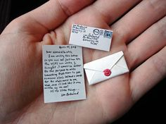 This Valentine's Day, why not send your loved one a little something via the    World's Smallest Postal Service? The tiny love letters are big enough to say    those three words, but don't leave a lot of room for much else