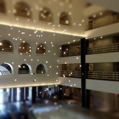 Boston Marriott Long Wharf lobby lighting. By Christopher Rauschnot http://twitter.com/24k #travel #light