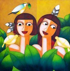 Galeria Arte Quadros \ Obras \ CARMEN GARREZ - ESPIRITO DOS PASSAROS