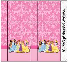 Disney Princess: Free Printable Candy Bar Labels.