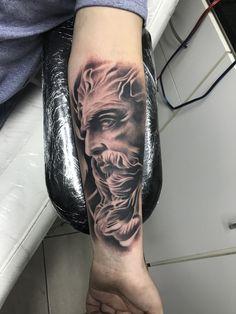 Lion Tattoo Sleeves, Skull Sleeve Tattoos, Cool Half Sleeve Tattoos, Cool Tattoos For Guys, Tattoo Sleeve Designs, Tattoo Designs Men, Forarm Tattoos, Dope Tattoos, Black Tattoos