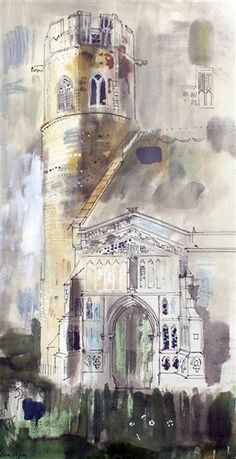 ✽   john piper - 'windsor castle'  -  ca 1951  -  mutualart.com